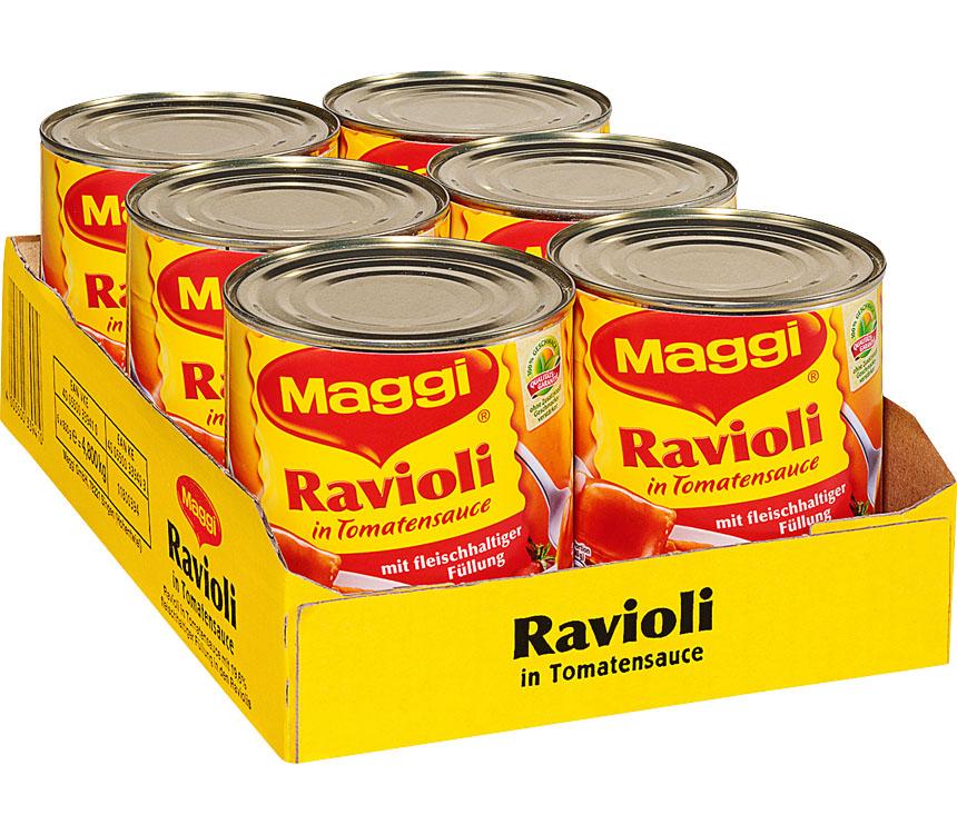 Abbildung des Angebots Ein ganzer Karton Maggi Ravioli