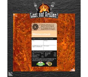 Abbildung des Angebots K-Purland Westernsteak vom Schweinenacken/-kamm, mar.