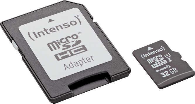 Micro-SDHC-Speicherkarte Intenso UHS-I