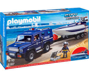 Abbildung des Angebots playmobil Polizei-Truck mit Speedboot »5187«