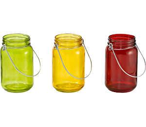 Abbildung des Angebots Glas-Windlicht ca. 8 cm Ø x 13,5 cm