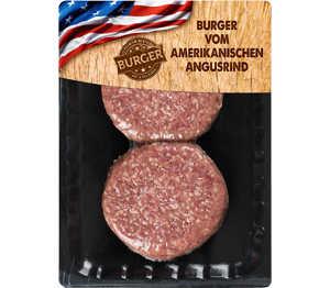 Abbildung des Angebots Burger v. amerikanischen Angusrind, Hackfleischzubereitung
