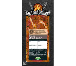 Abbildung des Angebots K-Purland Grillsteak »Black Garlic« v. Schweinenacken/-kamm mar.