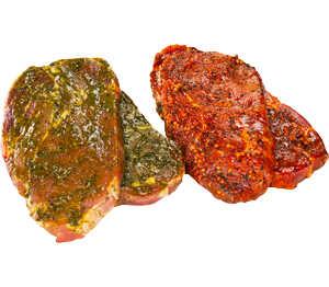 Abbildung des Angebots Steak Mexico vom Schweinenacken/-kamm, mariniert